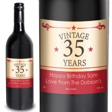 Vintage Numbers Red Wine